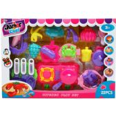 12 Units of 21PC PRETEND ICE CREAM PLAY SET IN WINDOW BOX - TOY SETS