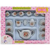 24 Units of 17PC PORCELAIN TEA SET IN WINDOW BOX - TOY SETS