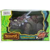 "12 Units of 14"" B/O DINO. TRICERATOPS IN WINDOW BOX, 2 ASST CLRS - Animals & Reptiles"