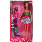 12 Units of BENDABLE BELLA DOLL WITH ACCESSORIES IN WINDOW BOX - Dolls
