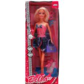"""24 Units of 11.5"""" BENDABLE BELLA DOLL W/ ACCSS IN WINDOW BOX - Dolls"""