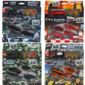 48 Units of 7PC DIECAST CARS & TRUCKS IN PEGABLE WINDOW BOX, 4 ASSRT - Cars/Planes/Train/Bikes