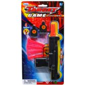 48 Units of SOFT DART TOY UZI WITH TARGETS IN BLISTER CARD - Magic & Joke Toys