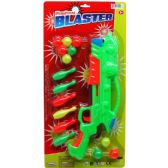 """24 Units of 15.5"""" BALL TOY GUN SET W/ ACCSS ON BLISTER CARD, 2 ASSRT - Toy Weapons"""