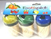 60 Units of 3 Pack Tooth Pick - Toothpicks