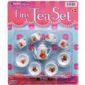 48 Units of 10PC MINI PORCELAIN TEA SET ON BLISTER CARD - TOY SETS