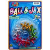 72 Units of JACKS WITH RUBBER BALL PLAY SET ON BLISTER CARD - Magic & Joke Toys