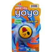 """96 Units of 2.5"""" LIGHTUP AMAZING YOYO ON BLISTER CARD, 4 ASSRT CLRS - Light Up Toys"""