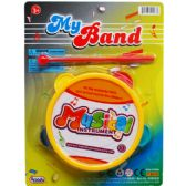 96 Units of TOY TAMBOURINE WITH STICK ON BLISTER CARD - Magic & Joke Toys