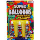 144 Units of SUPER BALLONS ON BLISTER CARD - Balloons & Balloon Holder
