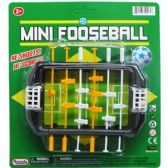 "72 Units of 5.5"" MINI FOOSEBALL PLAY SET ON BLISTER CARD - TOY SETS"