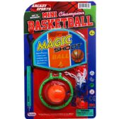 48 Units of TABLE MINI BASKETBALL GAME SET ON BLISTER CARD - Sports Toys