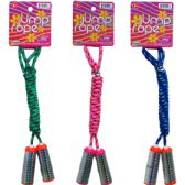"96 Units of 91.5"" SKIPPING JUMP ROPE WITH PEGABLE TAG, 3 ASSRT - Jump Ropes"