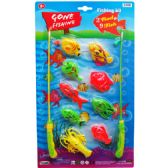 24 Units of GONE FISHING PLAY SET WITH RODS ON BLISTER CARD - Toy Sets