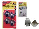 96 Units of 4pc Adhesive Hooks - Hooks