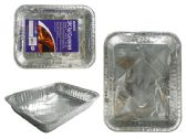 72 Units of 3pc BBQ Foil Roasting Pan - Aluminum Pans