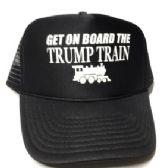 24 Units of Get On Board the Trump Train Mesh Caps - Black - Baseball Caps/Snap Backs
