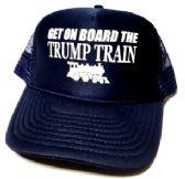 24 Units of Get On Board the Trump Train Mesh Caps - Navy blue - Baseball Caps/Snap Backs