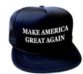 24 Units of Youth Printed Caps - Make America Great Again - Black - Kids Baseball Caps