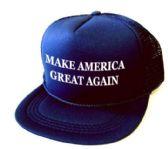 24 Units of Youth Printed Caps - Make America Great Again - Navy Blue - Kids Baseball Caps