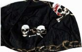 48 Units of White/bwn Skulls. Bandana Caps - Bandanas