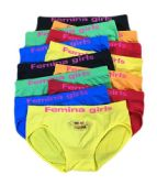 36 Units of Femina Girls Seamless Bikini- Size Large - Womens Panties / Underwear