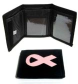 60 Units of Pink Ribbon Wallet - Leather Wallets