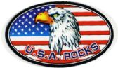 "72 Units of 5"" wide magnet, USA Rocks/ eagle, - MAGNETS/REFG. MAGNETS/SHAPE MG"