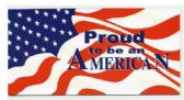 "72 Units of 4"" x 8"" magnet, Proud To Be An American, - MAGNETS/REFG. MAGNETS/SHAPE MG"