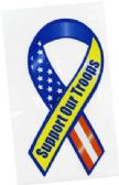 "60 Units of 3.5"" x 8"" Ribbon magnet, ""Support Our Troops - MAGNETS/REFG. MAGNETS/SHAPE MG"