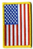 "48 Units of Embroidered iron on patch, REVERSE U.S. Flag, approximately 3.5"" high - Flag"