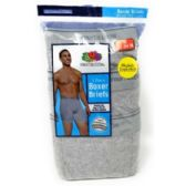 48 Units of Fruit of the Loom Men's Boxer Briefs 3-Pack - Mens Underwear