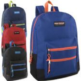 "24 Units of High Trails 18 Inch Double Zip Backpack - Boys - Backpacks 18"" or Larger"