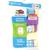 60 Units of Fruit of the Loom Girl's Cotton Stretch Briefs 5-Pack - Girls Underwear