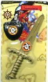 24 Units of Toy dagger with eye patch pirate play set - Toy Weapons