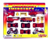 24 Units of 15 Piece die cast fire team set - TOY SETS