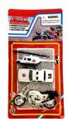 60 Units of 3 Piece police team set, - Cars/Planes/Train/Bikes