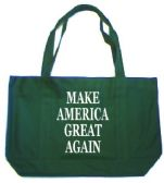 12 Units of Make America Great Again Tote Bags In Dark Green - Tote Bags & Slings