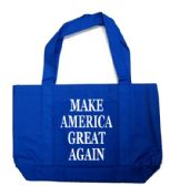 12 Units of Make America Great Again Tote Bags In Royal Blue - Tote Bags & Slings