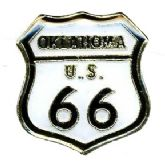 96 Units of Brass hat pin, Oklahoma - Route 66, - Sewing Supplies
