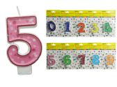 "144 Units of Happy Birthday Candle, Number Size: 2.5"" H - Candles"