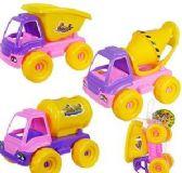 36 Units of Toy Construction Trucks - Cars/Planes/Train/Bikes