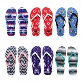 96 Units of Women's Flip Flops Assorted Prints and Colors - Women's Flip Flops
