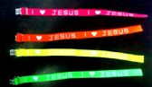 "168 Units of Woven neon bracelet, ""I (love) Jesus - Bracelets"