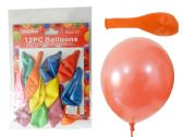 "144 Units of 12pc 12"" Balloons - Balloons & Balloon Holder"