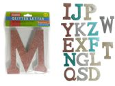 72 Units of Wooden Decorative Glitter Letter - Home Decor