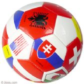 30 Units of Official Size World Flags Soccer Balls - Balls