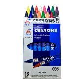 180 Units of 16 Piece Assorted Colors Crayon Packs - MARKERS/HIGHLIGHTERS