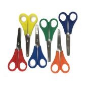 "96 Units of 5"" Long Measuring Safety Scissors in 6 Assorted Colors - Scissors"