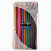96 Units of 12 Piece Assorted Colors Coloring Pencilss - Pencils